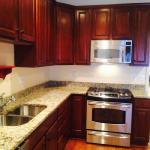 clean kitchens - including sinks, countertops, microwaves and refrigerators